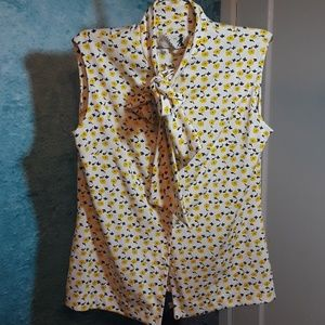 Vintage Mr Beau yellow flower shirt size Large L